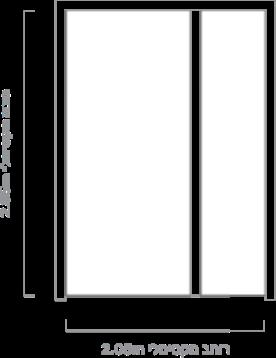 A half-wing door