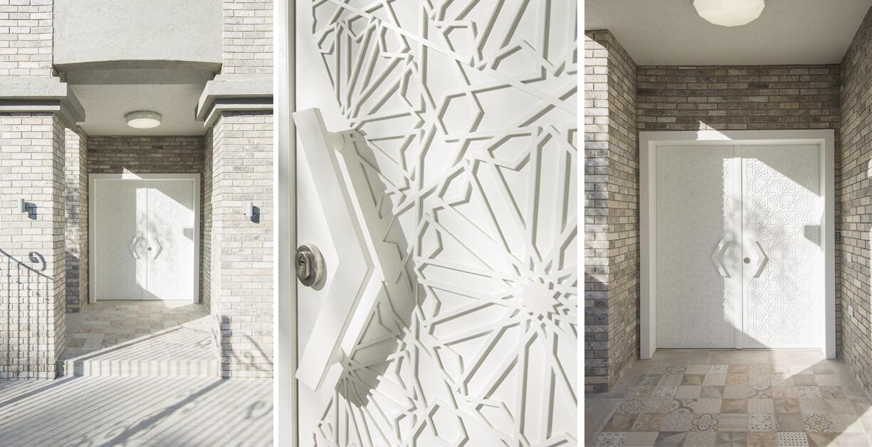 דלת סהרה לבנה כפולה