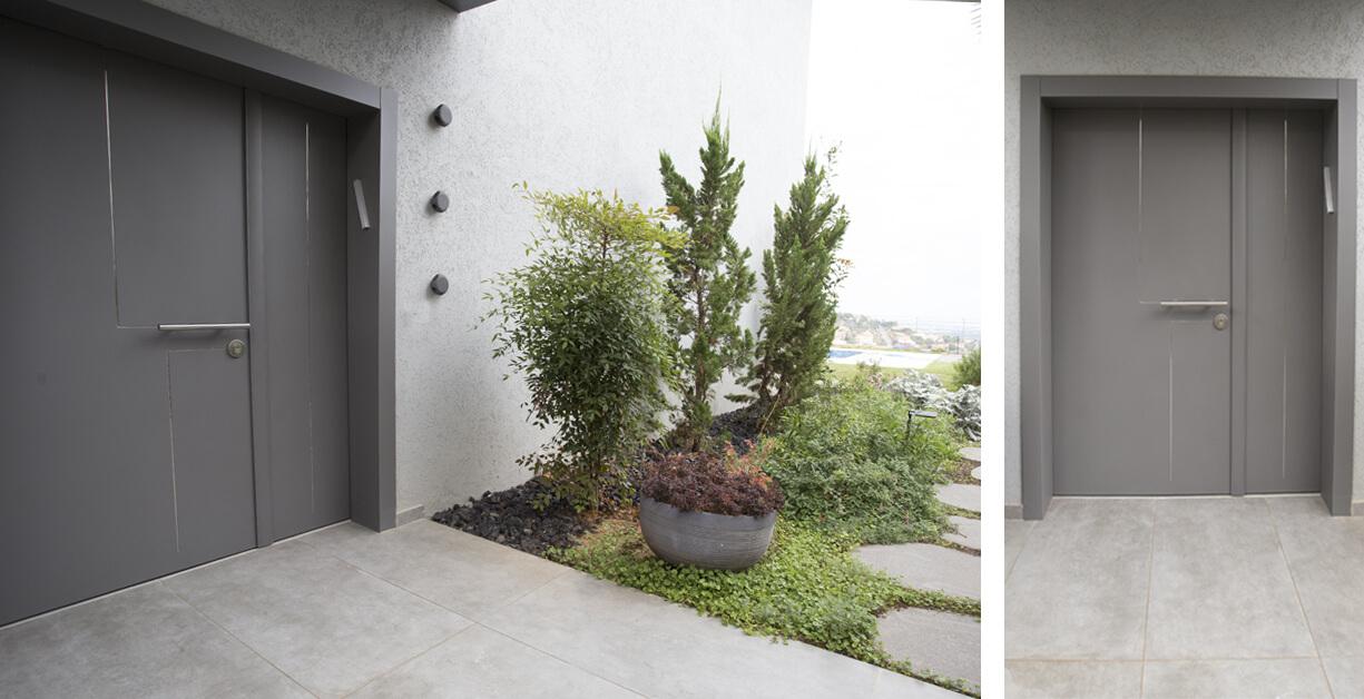 דלת סיינה אפורה
