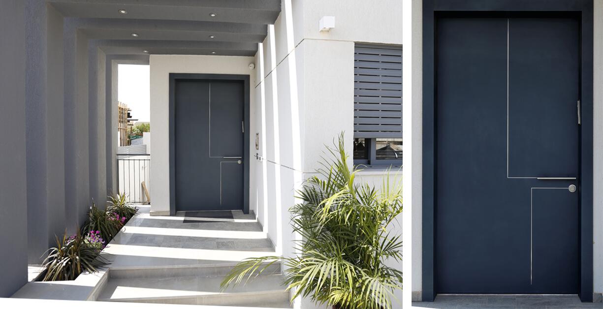 דלת סיינה כחולה